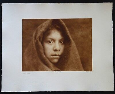 A MAKAH MAIDEN by EDWARD S. CURTIS - 1915 LG FOLIO PHOTOGRAVURE