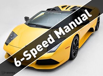 Lamborghini Murcielago LP640 Roadster 6-Speed RARE 6-Speed Manual - Extremely Low Miles - 1 of 1 Color Combo -