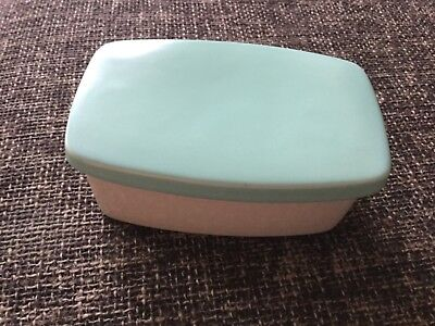 Vintage Poole Butter Dish.Ice Green & Seagull.