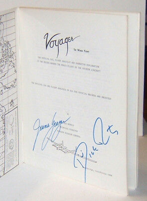 Voyager: The World Flight book signed by Dick Rutan and Jeana Yeager