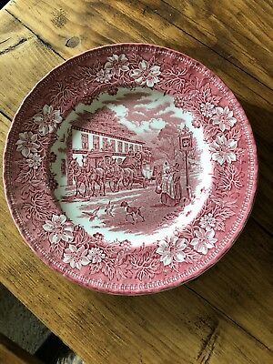 """Vintage Royal Tudor Ware Coaching Taverns 1828 Slough 10"""" Plate Great Condition"""