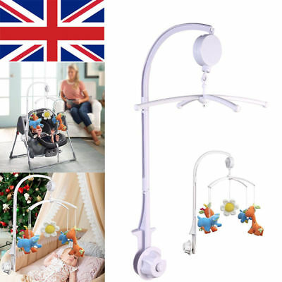Rotary Baby Kids Crib Mobile Bed Bell Toys Holder Arm Bracket Wind-up Music Box