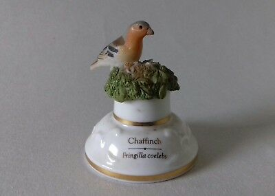RARE Sutherland China Hand Painted Bell Shaped Chaffinch Collectable Thimble