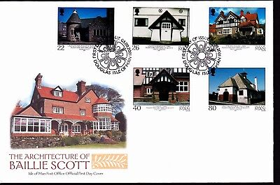 ISLE OF MAN stamps 2001 FDC Architecture of Mackay Hugh Baillie Scott