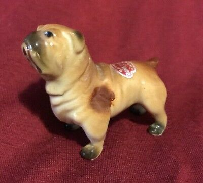 Beautiful Bone China English Bulldog Excellent Condition with Label