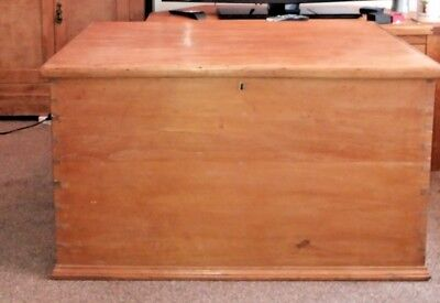 Vintage Solid Pine Bedding Chest