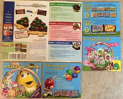 2004 - 2008 M&M's 17 Various Size Ads - 1/2pg, 1/3 pg, 1/4pg +