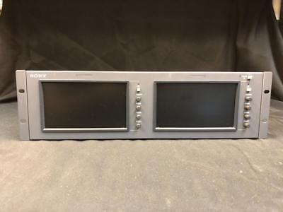 Sony LMD-7220W Dual 7-Inch LCD Monitors in Rack Mount Housing!