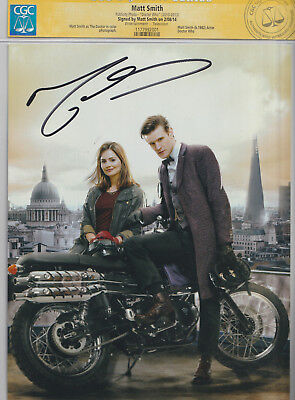 CGC SS Photo MATT SMITH as DOCTOR WHO 8x10 Full Color Photo Autograph CERTIFIED