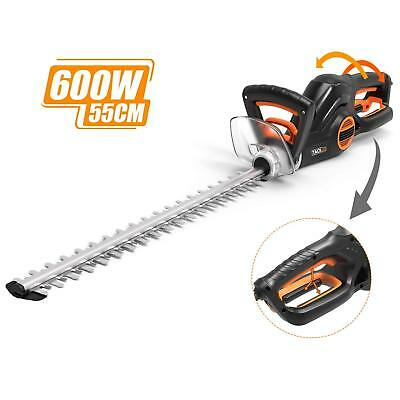 Electric Hedge Trimmer, TACKLIFE 600W Hedge Trimmer Blade Length: 550mm, Cutting