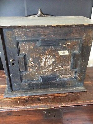 18Th Century Oak Chinoiserie Lacquered Spice Cupboard 9 Drawers...
