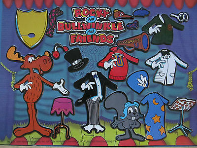 Ultra-Rare*22-Yr.Old*New*Sealed ROCKY & BULLWINKLE Magnet Play Set from 1996!!