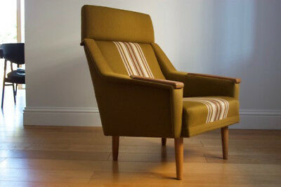 Original Mid Century Vintage Chair upholstered in the original Danish fabric.