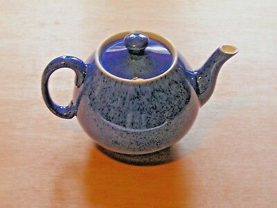 William Moorcroft Pottery Liberty Speckled Powder Blue Teapot *Revised Photos*