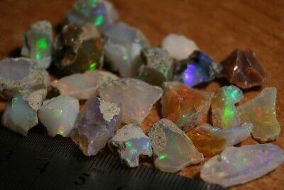85ct Welo Crystal Opal Rough Lot - Small to Medium Sized Top Quality Rough