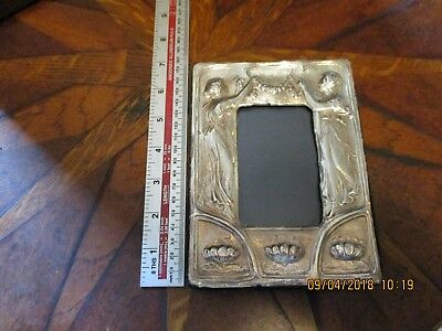 Solid Silver Art Nouveau Style Photo Frame London 1985