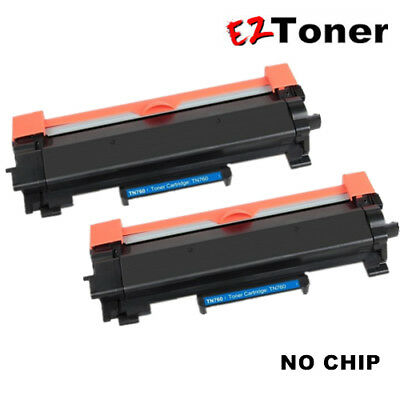 Brother TN760 Compatible Black Toner Cartridge High Yield for TN730 NO CHIP-2PK