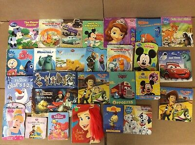 Lot of 25 Disney Board Toddler Hardcover Picture DayCare Child Book UNSORTED F14