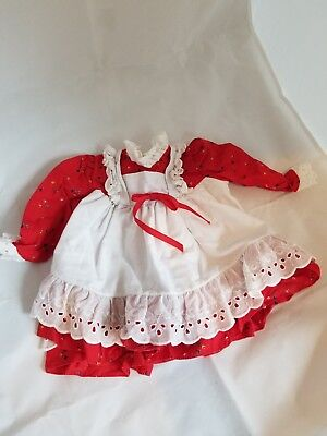 ADORABLE...Vintage Girls red Dress size 2T