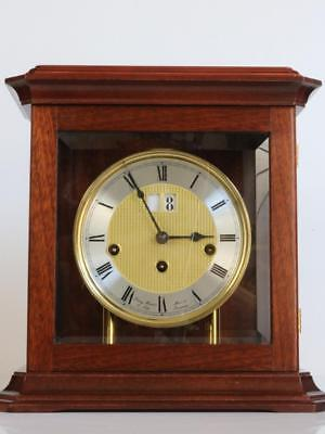 MUSICAL MANTEL CLOCK chiming on 5 bells HERMLE date & night-time shut-off
