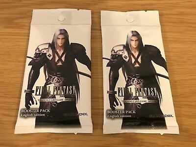 2x OPUS III 3 Final Fantasy Trading Card Game Booster Pack Official Square Enix