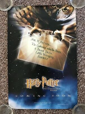 Harry Potter And The Philosopher's Stone A4 Privet Drive Letter Movie Poster A