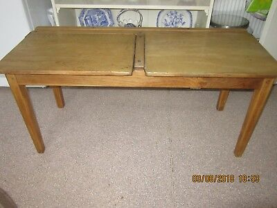 Original Oak Double School Desk