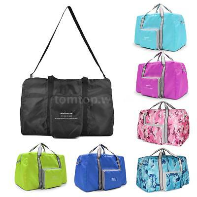 Lightweight Foldable Travel Duffel Bag Tote Carry on Luggage Sports Gym Bag V8W2