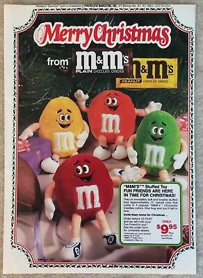 1987 M&M's Merry Christmas Stuffed Toy Ad