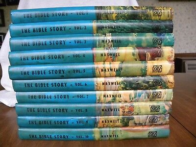 The Bible Story by Arthur S. Maxwell, Ten Hardcover Illustrated Children's Books