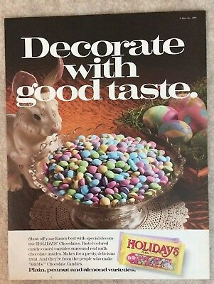 1989 M&M's Decorate with good taste Easter Holiday Ad