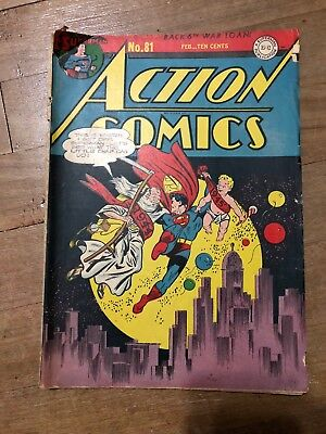 Action Comics #81 New Years Cover 1945