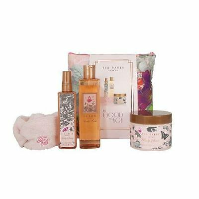 Ted Baker Be Good To You Makeup Bag Body Spray Wash Scrub Head Band Gift Set