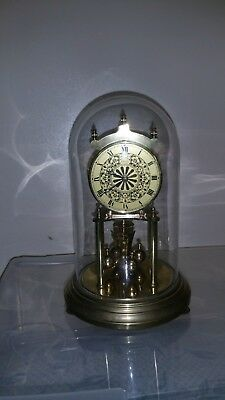 Vintage Glass Domed Kundo 400 Anniversary Mantle Clock