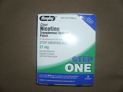 Nicotine Transdermal System Patches STEP 1 EXP 02/2021 21mg stop smoking aid