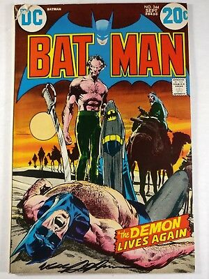 Batman #244 Signed by Neal Adams Classic Hairy Chest Batman Cover