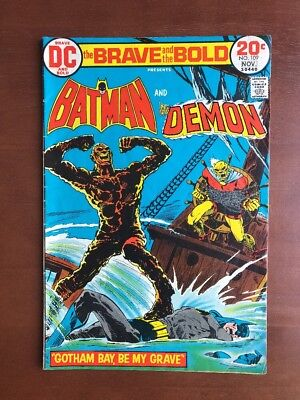 Brave and the Bold #109 (1973) 7.0 FN DC Key Issue Comic Batman Demon Bronze Age