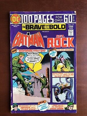 Brave And The Bold #117 (1974) 5.0 VG DC Key Issue Comic Batman Sgt Rock Bronze
