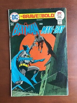 Brave and the Bold #119 (1975) 6.0 FN DC Key Issue Comic Batman Man-Bat Bronze