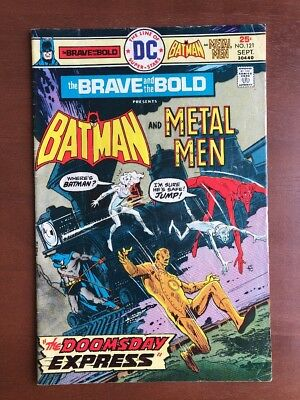 Brave and the Bold #121 (1975) 7.0 FN DC Key Issue Comic Batman Metal Man Bronze