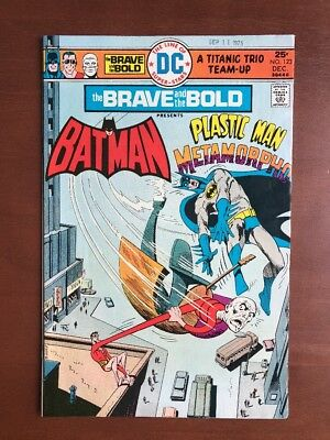 Brave And The Bold #123 (1975) 8.0 VF DC Key Issue Comic Batman Plastic Man