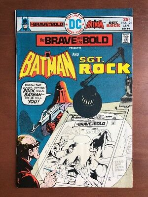 Brave and the Bold #124 (1976) 8.0 VF DC Key Issue Comic Batman Sgt Rock Bronze