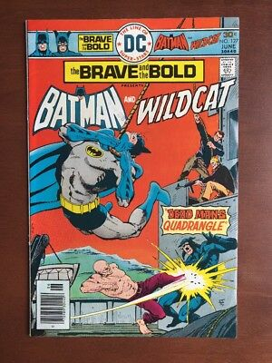 Brave And The Bold #127 (1976) 8.0 DC Key Issue Comic Batman Wildcat Bronze Age