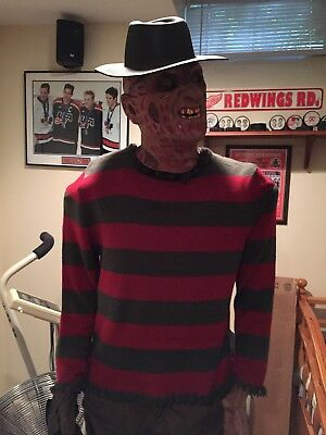 lifesize gemmy freddy krueger spirit halloween rare