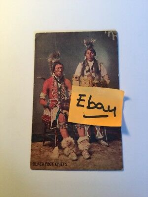 Old Postcard 1900's Blackfoot Indian Chiefs Historical Rare Vintage
