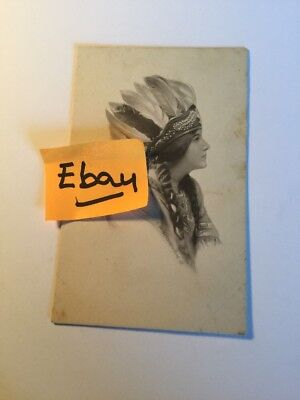 Old Postcard 1900's Indian Girl Woman Historical Rare Vintage( # 2 )