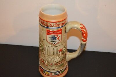 Budweiser's 1984 Los Angeles Olympic VILLAGE Stein ANTIQUE COLLECTIBLE