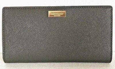New Kate Spade Stacy Laurel Way leather wallet Evergreen