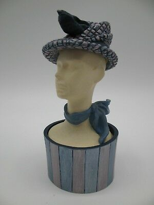 Just The Right Shoe Raine Willittis Designs TWEED Miniature Hat Trinket Box