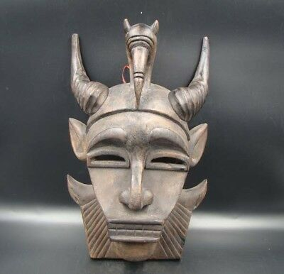 330mm Handmade Carving Statue wood Mask Devils in animal forms Deco Art